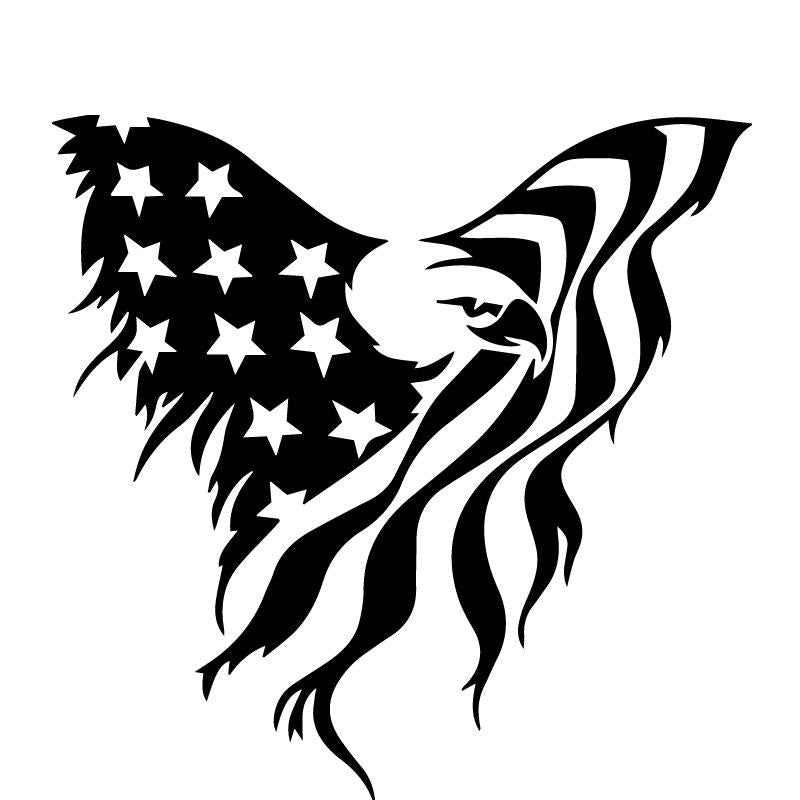 US Patriotic Eagle America Military Flag Decal Sticker