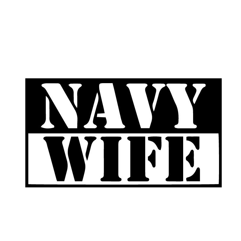 Navy Wife New Text Decal Sticker