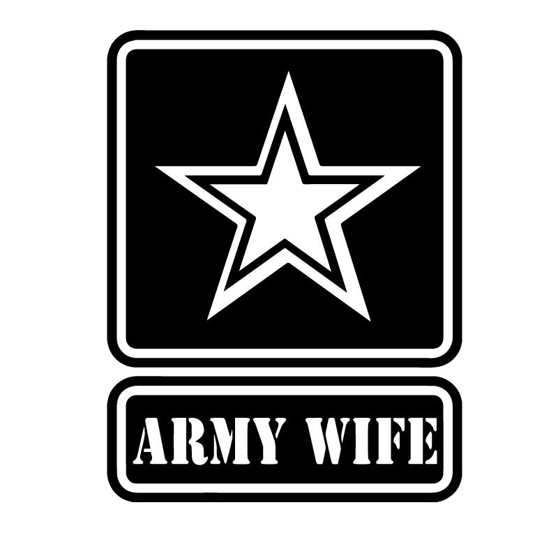 Army Wife Star Symbol Decal Sticker