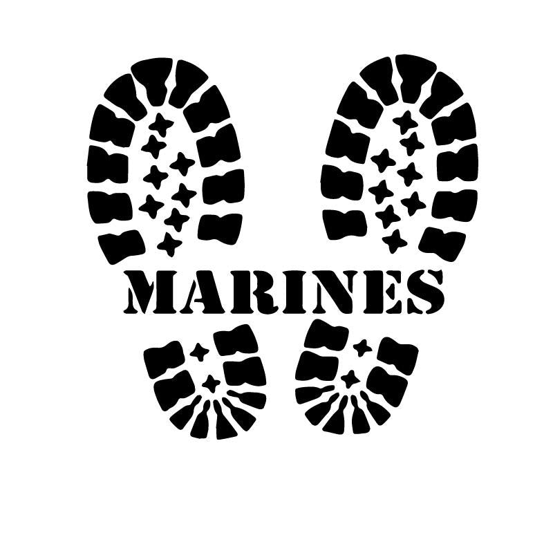 US Marines Footsteps Decal Sticker