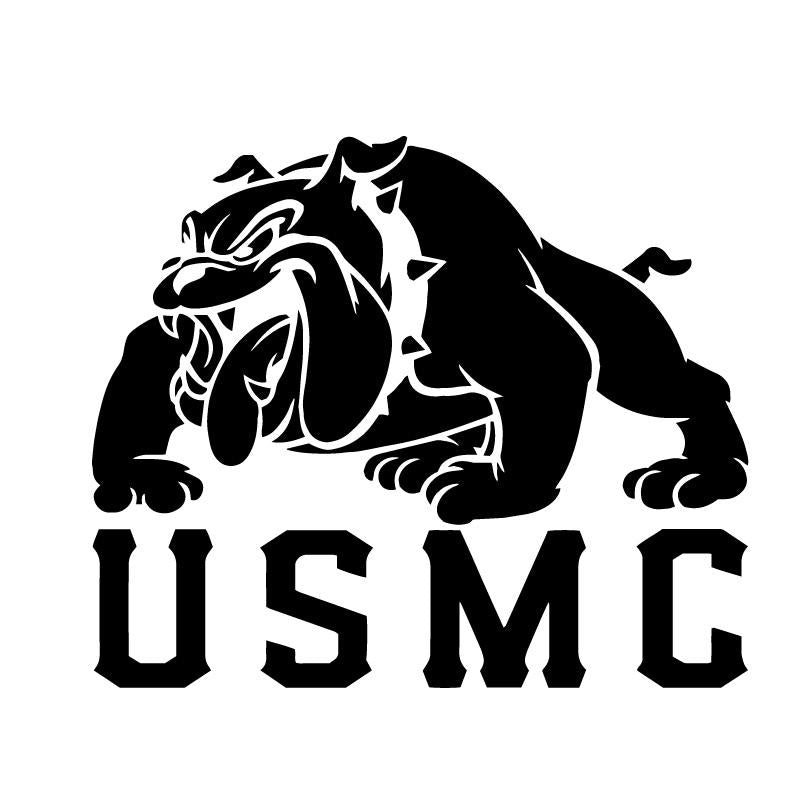 USMC Marines Bulldog Official Decal Sticker