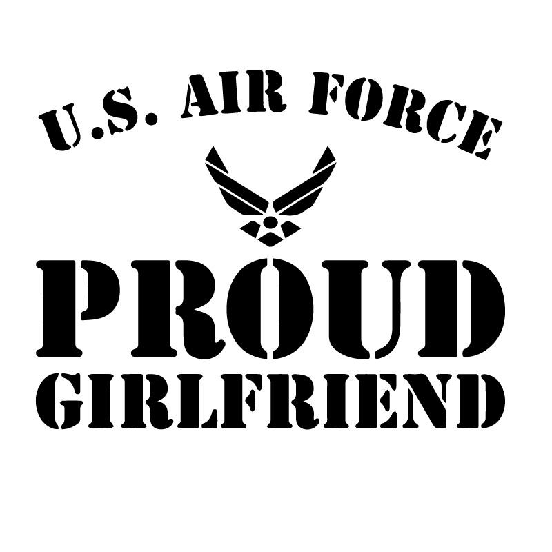 US Air Force Proud Girlfriend Decal Sticker