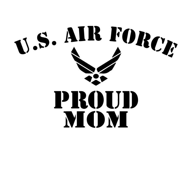 US Air Force Proud Mom Decal Sticker