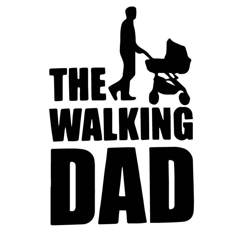 The Walking Dead Dad Decal Sticker