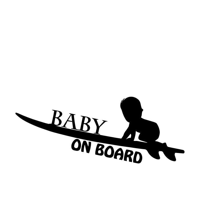 Baby on Board Surfing Baby Decal Sticker