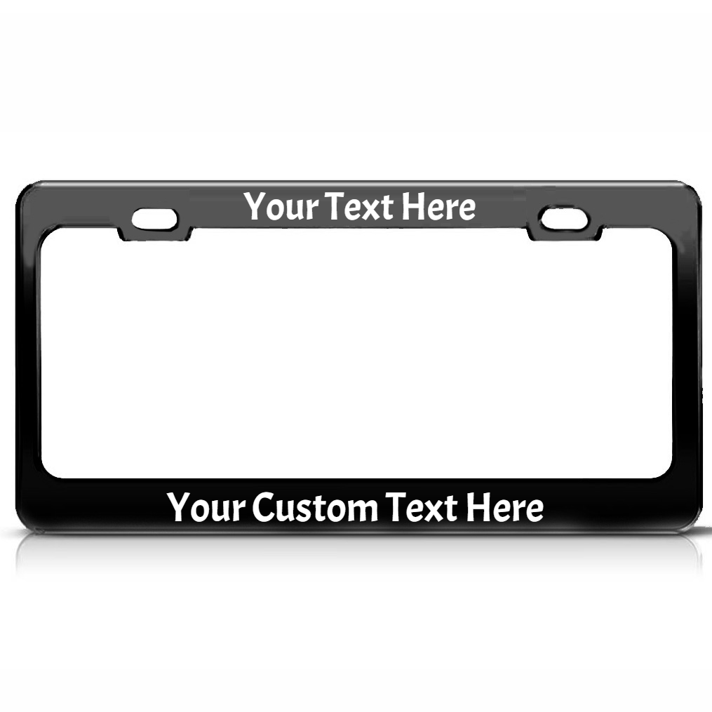 Personalized Metal License Plate Frame with Vinyl Lettering