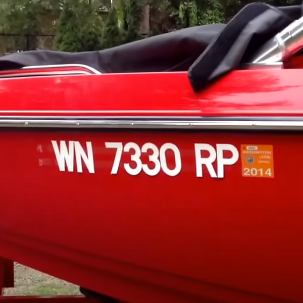 Custom Vinyl Boat Registration Number Decals