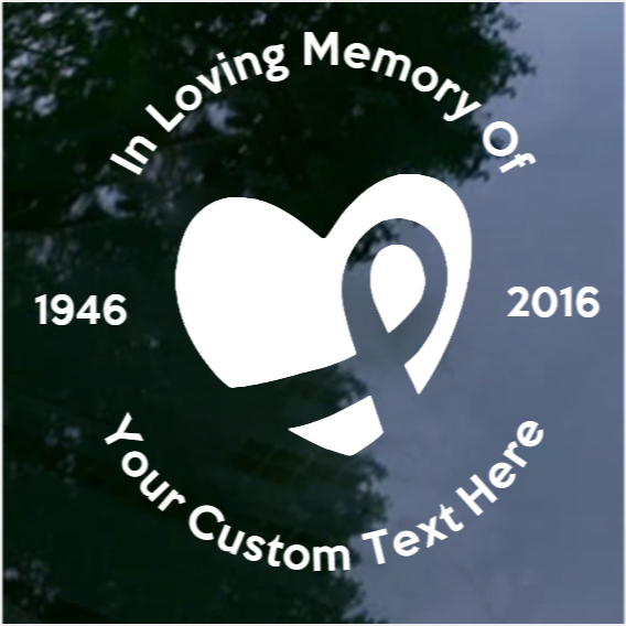 Custom In Loving Memory of Vinyl Lettering Decal - Forever In Our Hearts