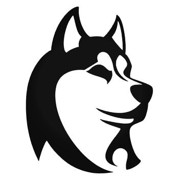 Husky Dog Head Vinyl Decal Sticker