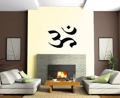 Yoga Symbol Om India Spiritual Sanskrit Decor Wall Mural Vinyl Art