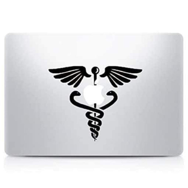 Medical Caduceus Laptop Decal Sticker