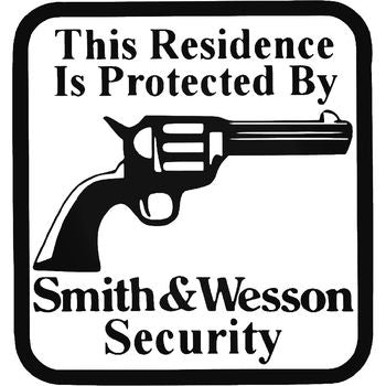 Protected By Smith Wesson Vinyl Decal Sticker