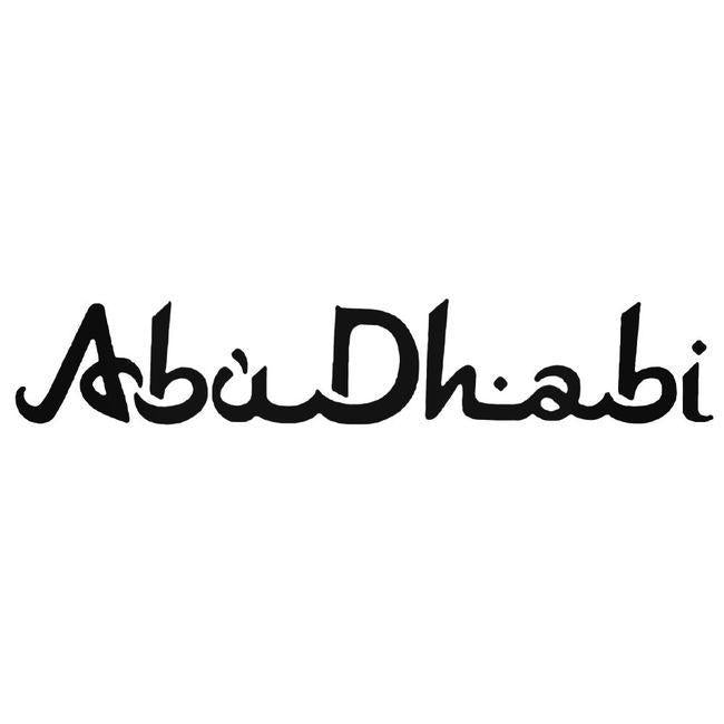 Abu Dhabi Decal Sticker