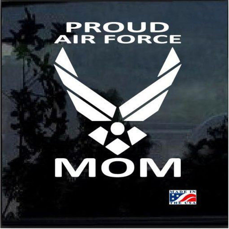 Air Force Proud Mom Military Window Decal Stickers