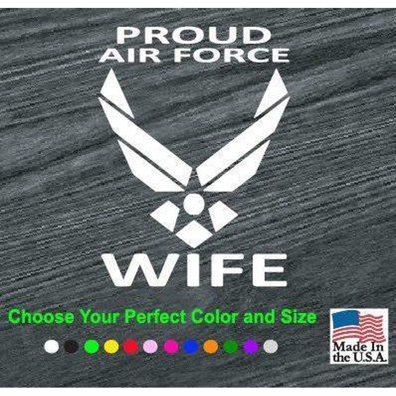 Air Force Proud Wife Military Window Decal Stickers