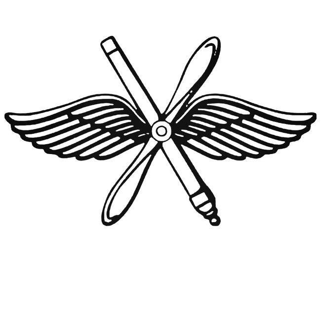 Air Force Wings And Propeller Decal Sticker