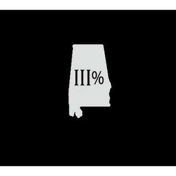 Alabama 3 percenter Truck Decal Sticker