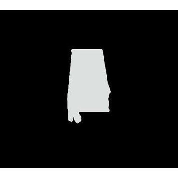 Alabama State Silhouette Truck Decal Sticker