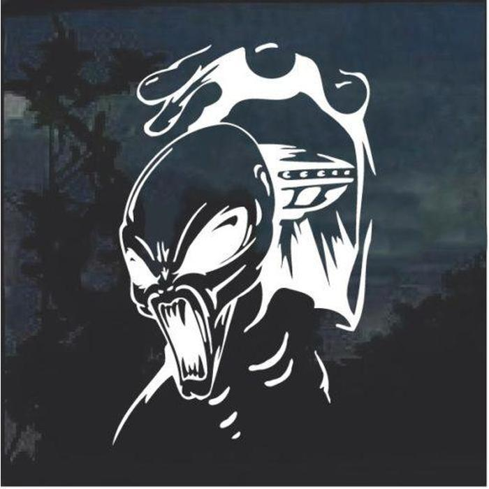 Alien and UFO Decal Sticker