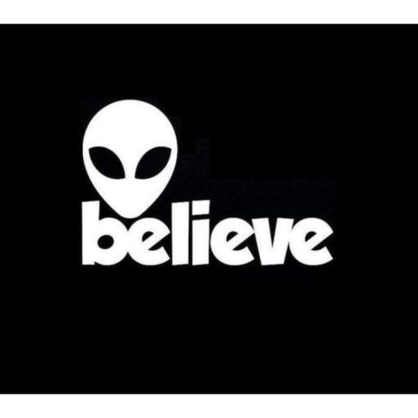 Alien Believe Window Decal Sticker