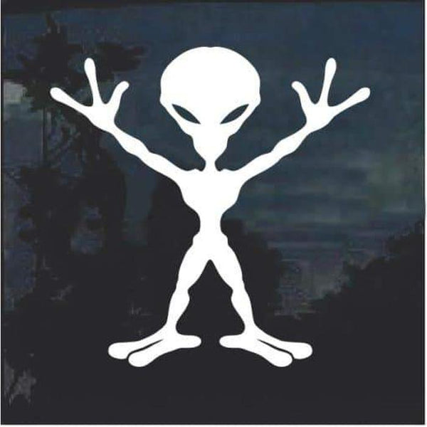 Alien body window decal sticker