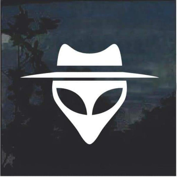 Alien head with hat Decal sticker