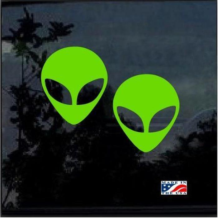 Alien Set of 2 JDM Car Window Decal Stickers