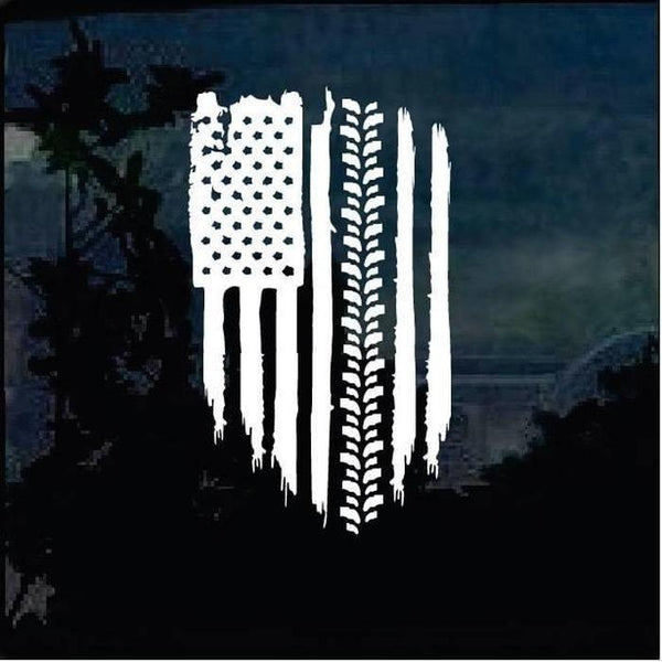 American Flag Weathered flag tire tread Truck Decal Sticker