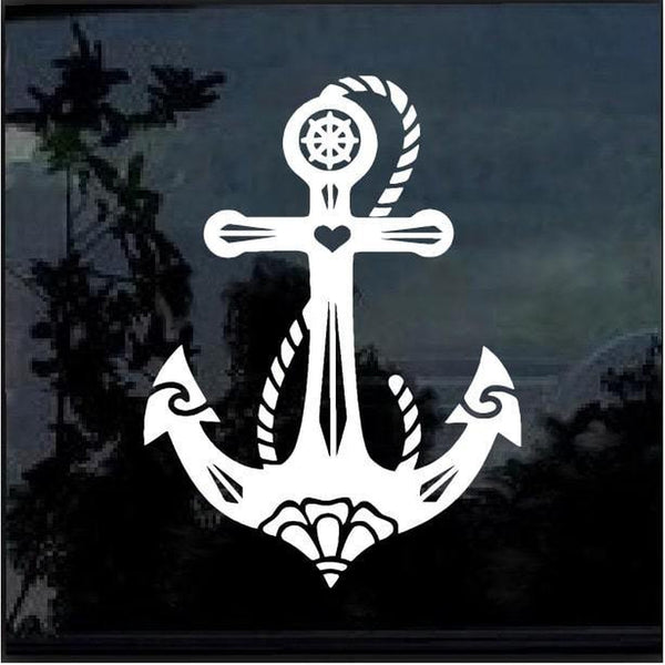 Anchor Boat Window Decal Sticker A2