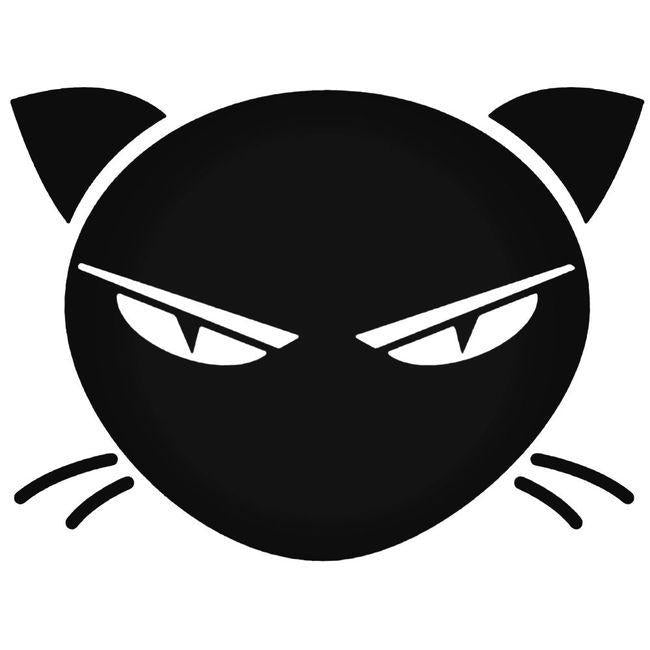 Angry Cat Decal Sticker