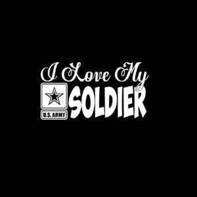Army Love my soldier Military Window Decal Stickers