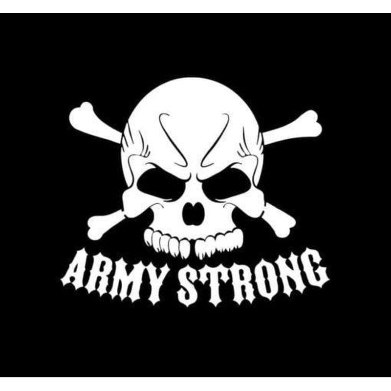 Army Strong Skull Military Window Decal Stickers