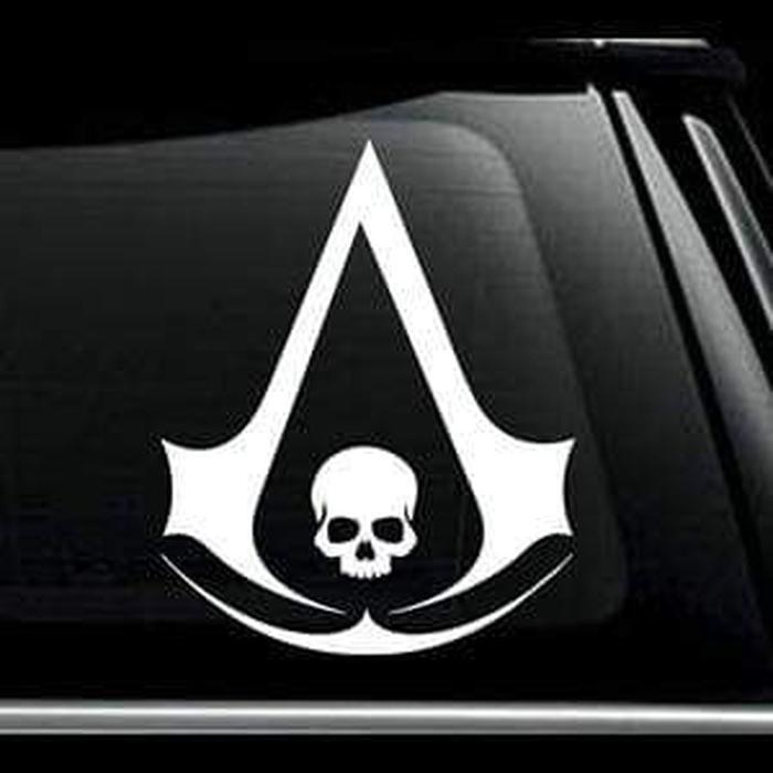 Assassins Creed Skull Window Decal Sticker