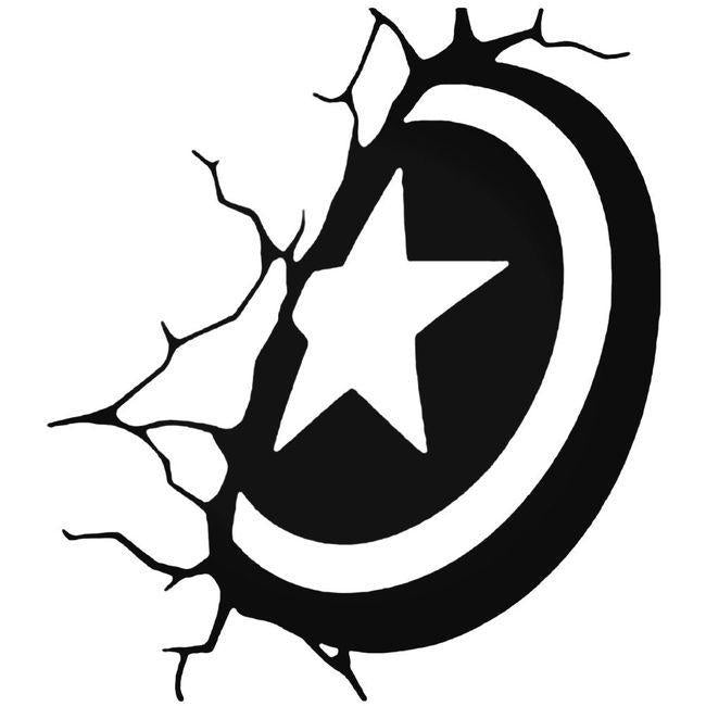 Avengers Shield Captain America Decal Sticker