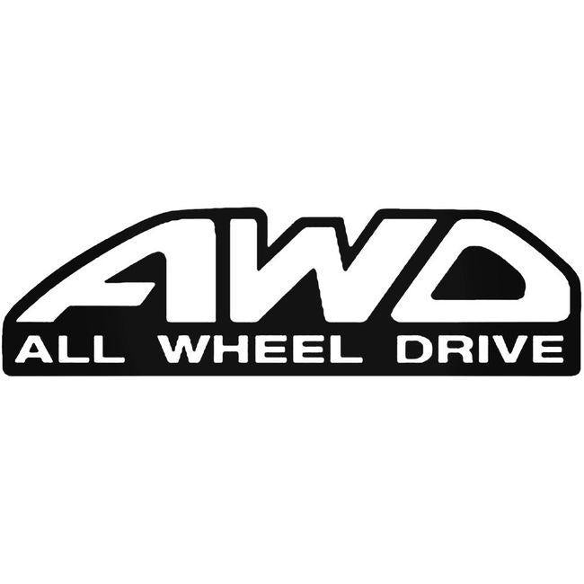 Awd Black Aftermarket Decal Sticker