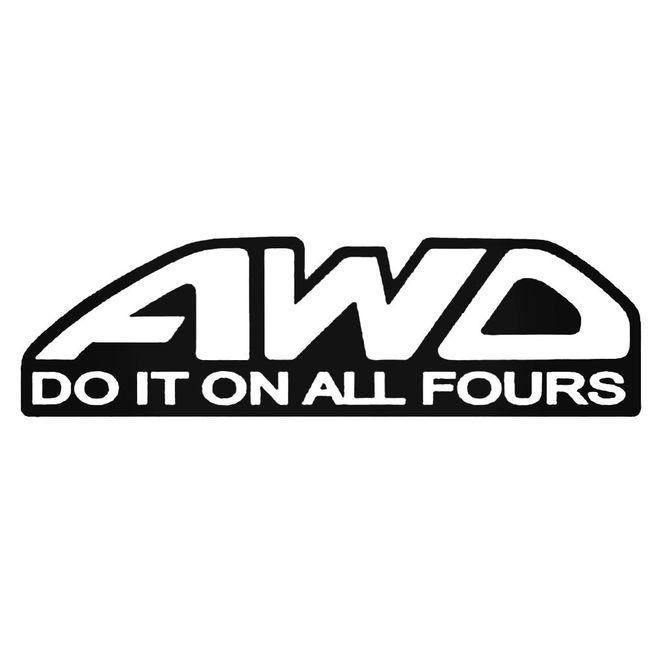 Awd Do It On All Fours Jdm Decal Sticker