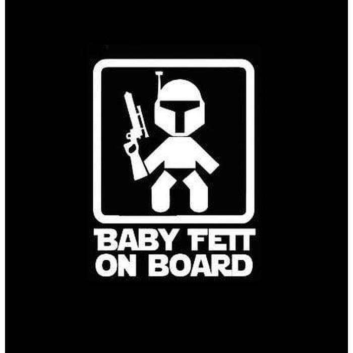 Baby Fett On Board Star Wars – Baby on Board Sticker