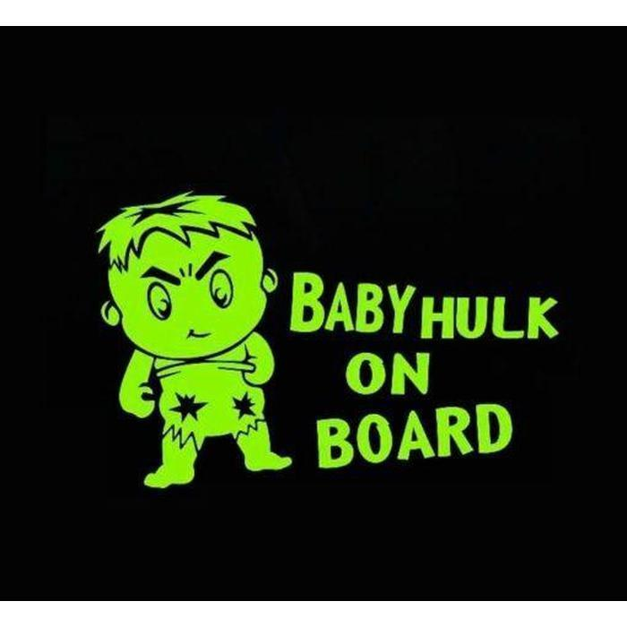 Baby Hulk on Board – Baby on Board Sticker