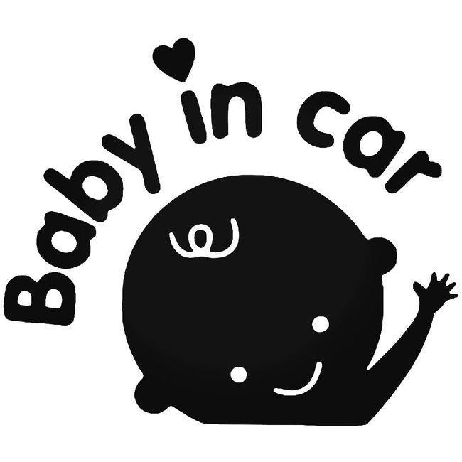 Baby In 1 Decal Sticker