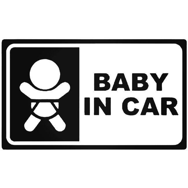 Baby In Car Jdm Decal Sticker