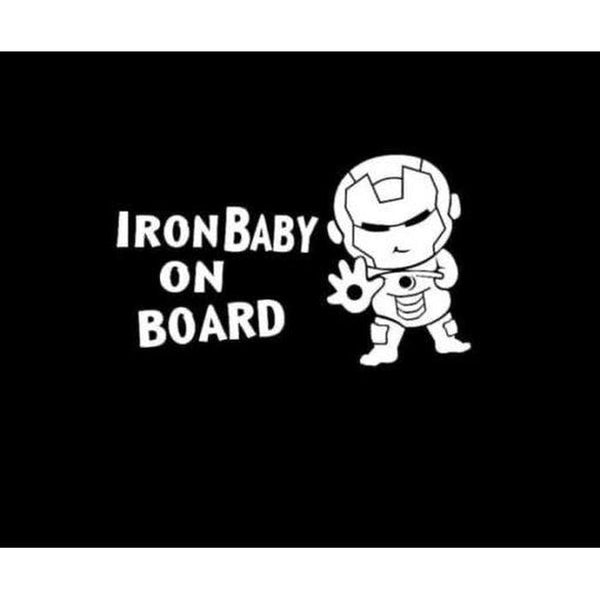 Baby Ironman on board – Baby on Board Sticker