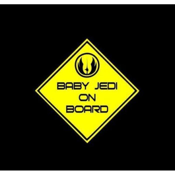 Baby Jedi On Board a2 – Baby on Board Sticker