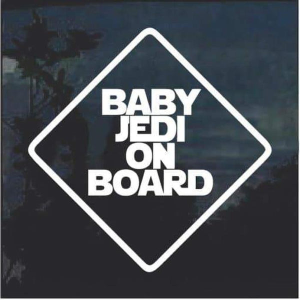 Baby Jedi On Board Window Decal Sticker