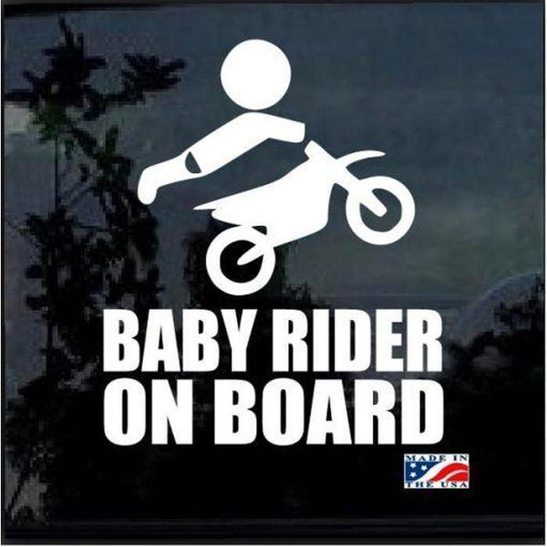 Baby Motocross Rider On Board – Baby on Board Sticker