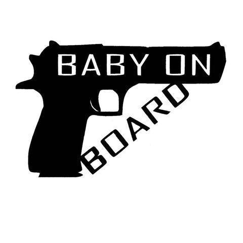 Baby on Board Gun Decal Sticker