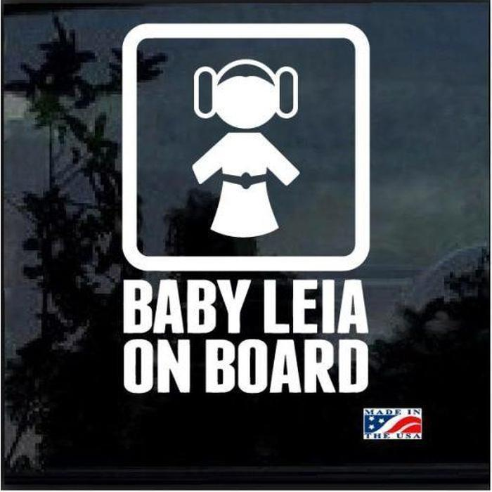 Baby Princess Leia On Board – Baby on Board Sticker
