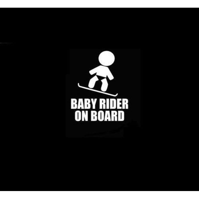 Baby Snowboard rider On Board – Baby on Board Sticker