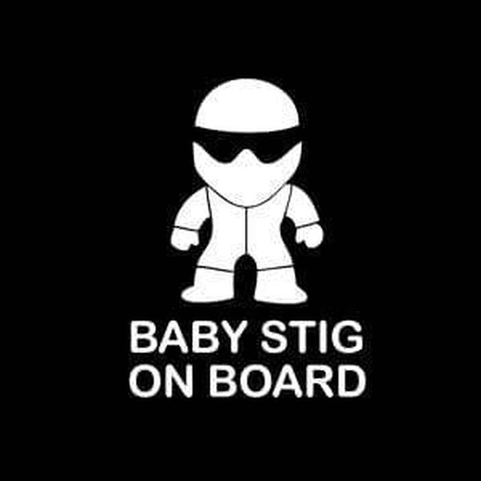 Baby Stig – Baby on Board Sticker