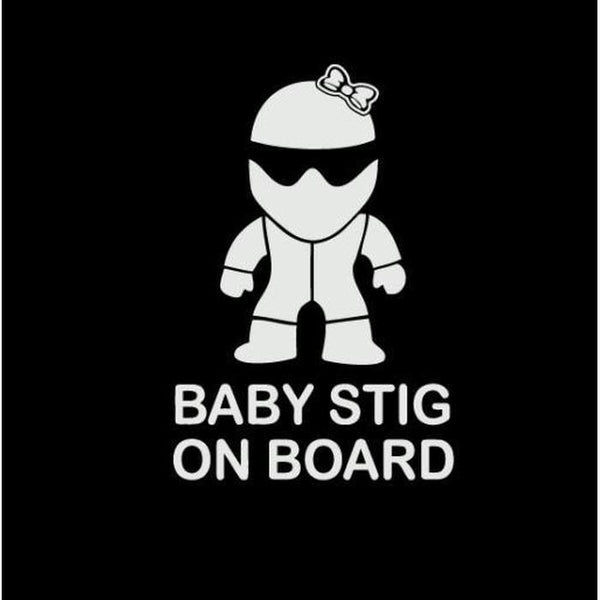 Baby Stig On Board Girl – Baby on Board Sticker