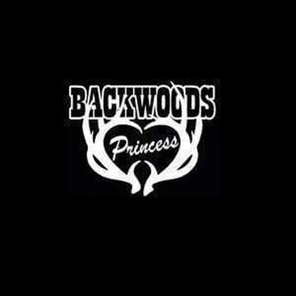 Backwoods Princess Hunting Window Decal Sticker